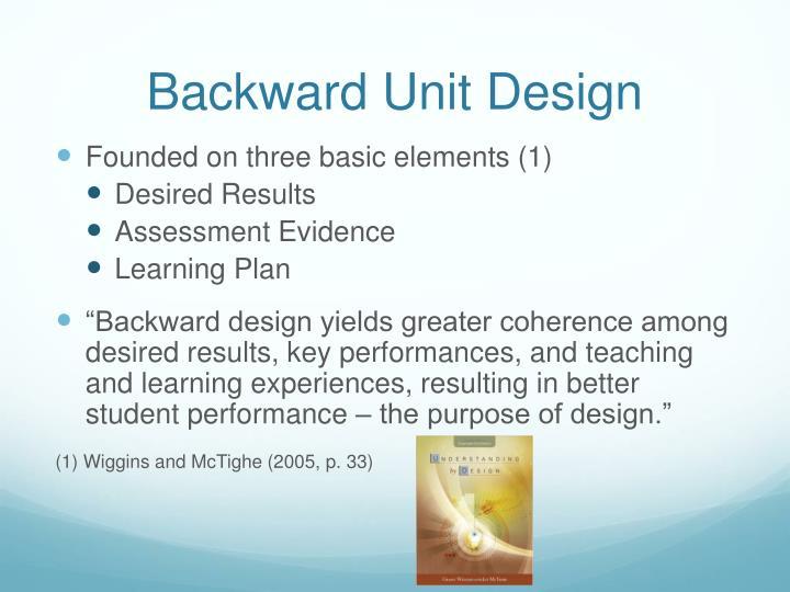 Backward Unit Design