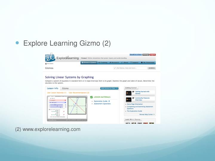 Explore Learning Gizmo (2)