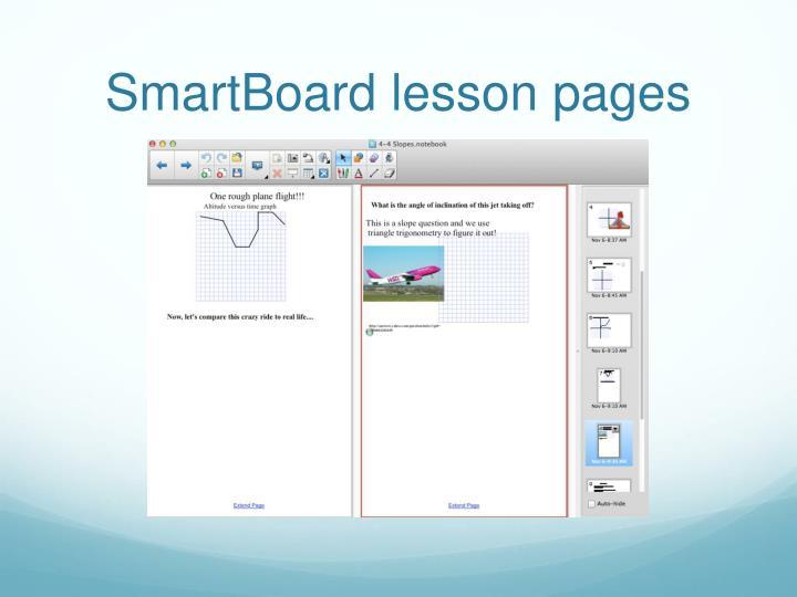 SmartBoard lesson pages