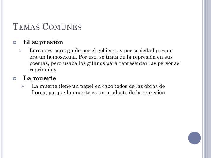 Temas Comunes