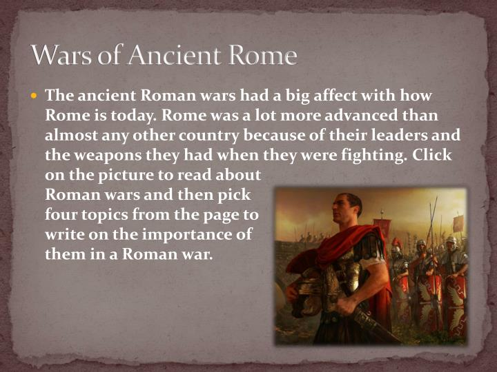 Wars of Ancient Rome