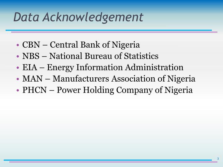 Data Acknowledgement