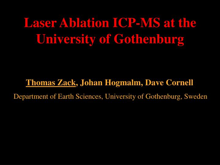 Laser Ablation ICP-MS