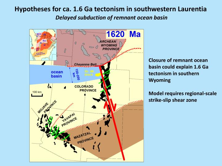 Hypotheses for ca. 1.6 Ga tectonism in southwestern Laurentia