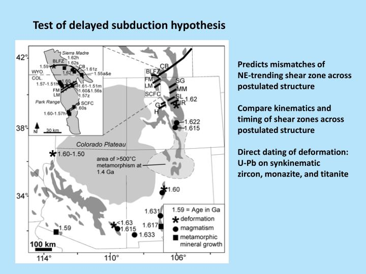 Test of delayed subduction hypothesis