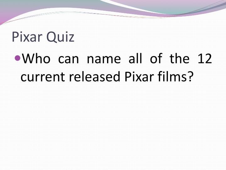 Pixar Quiz