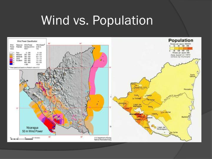 Wind vs. Population