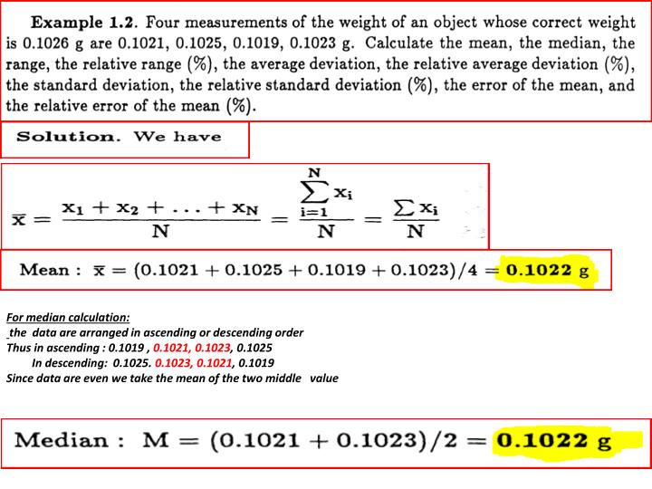 For median calculation: