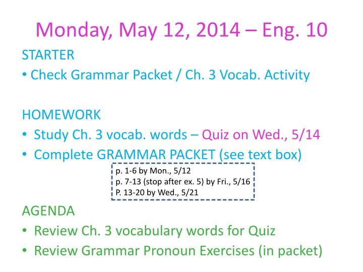 Monday may 12 2014 eng 10