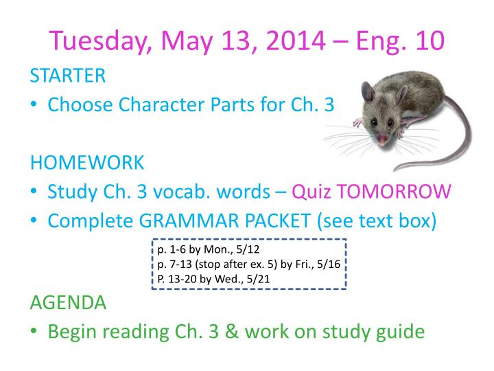 Tuesday may 13 2014 eng 10