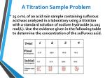a titration sample problem