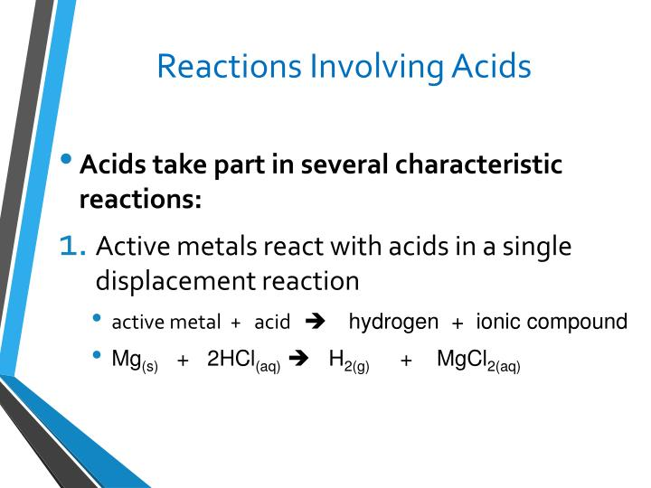 Reactions Involving Acids