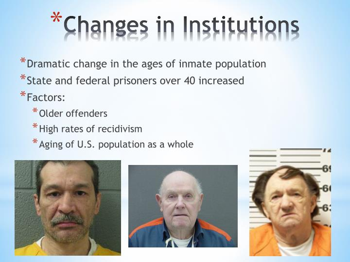 Dramatic change in the ages of inmate population