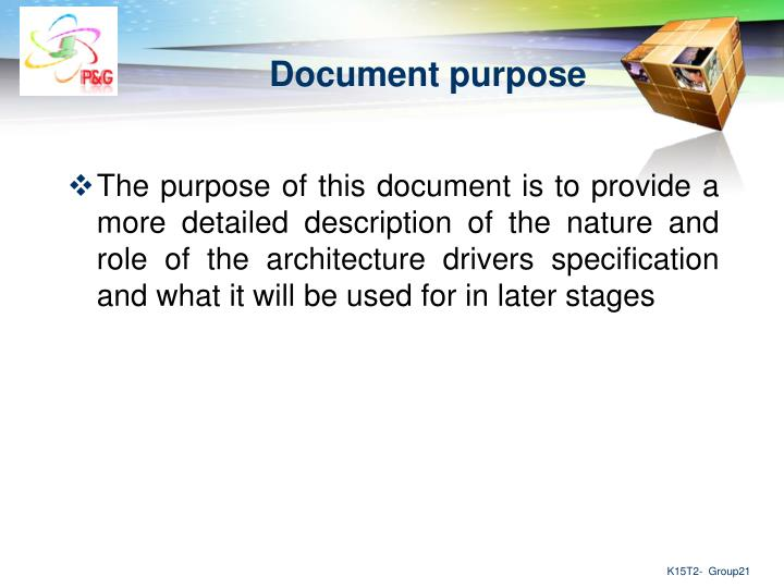 Document purpose