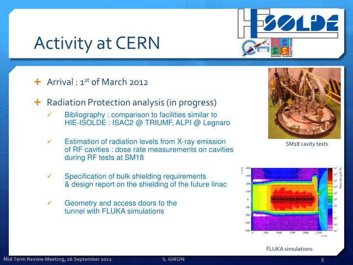 Activity at CERN