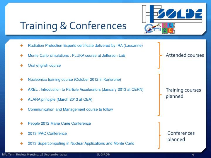 Training & Conferences
