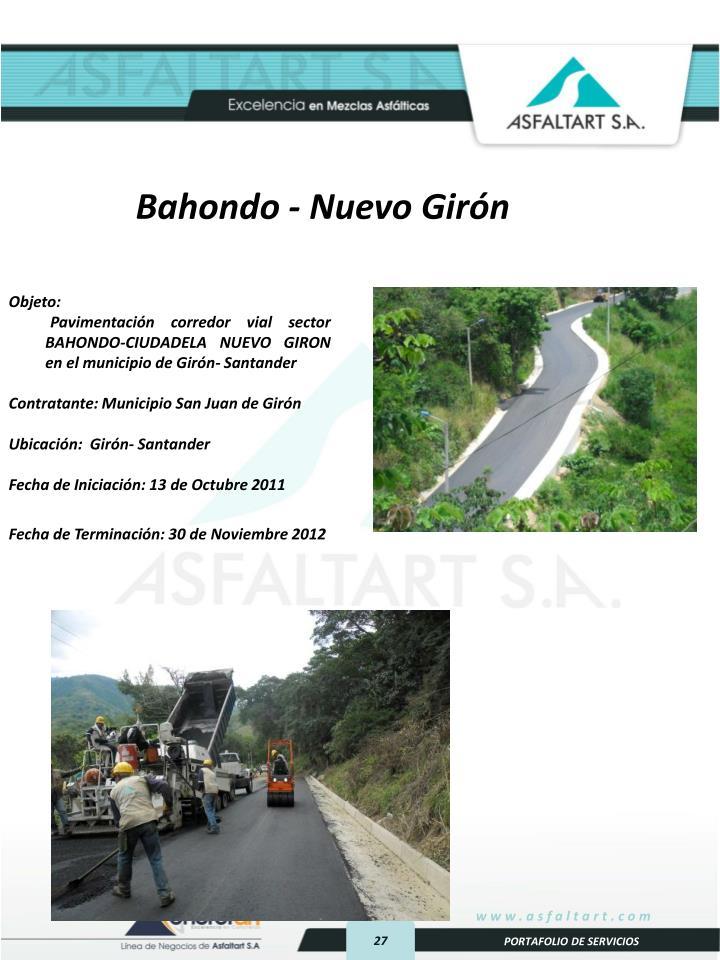 Bahondo - Nuevo Girón