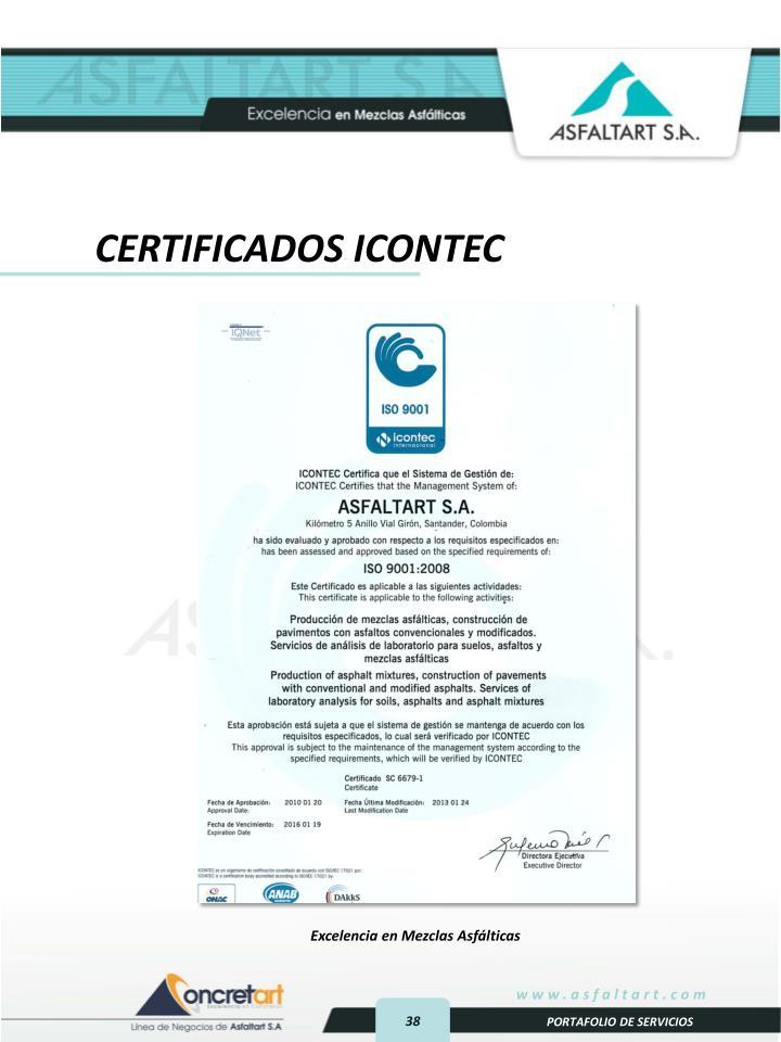 CERTIFICADOS ICONTEC