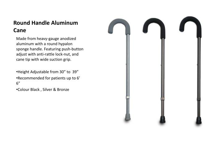 Round Handle Aluminum Cane