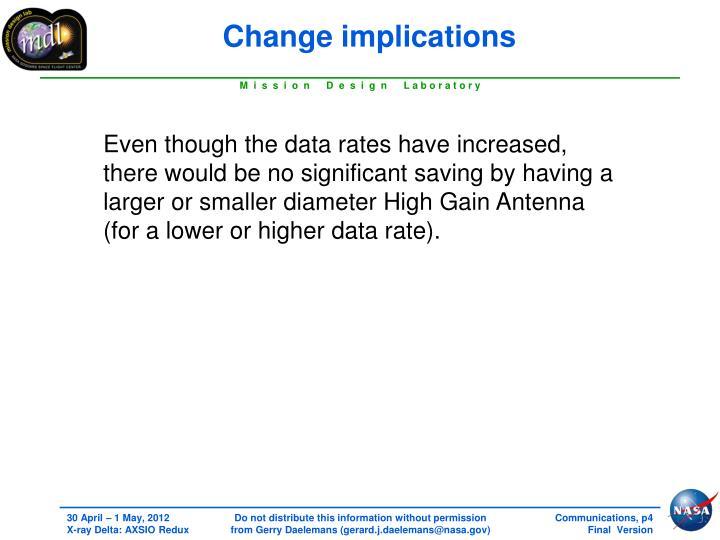 Change implications