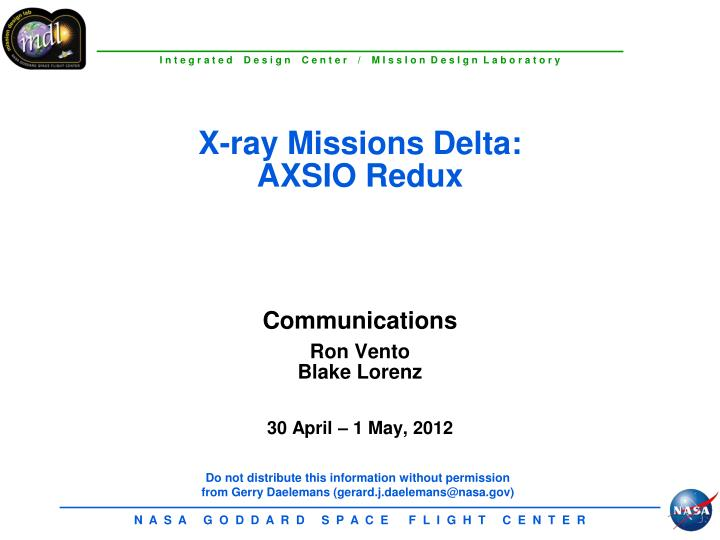 X-ray Missions Delta: