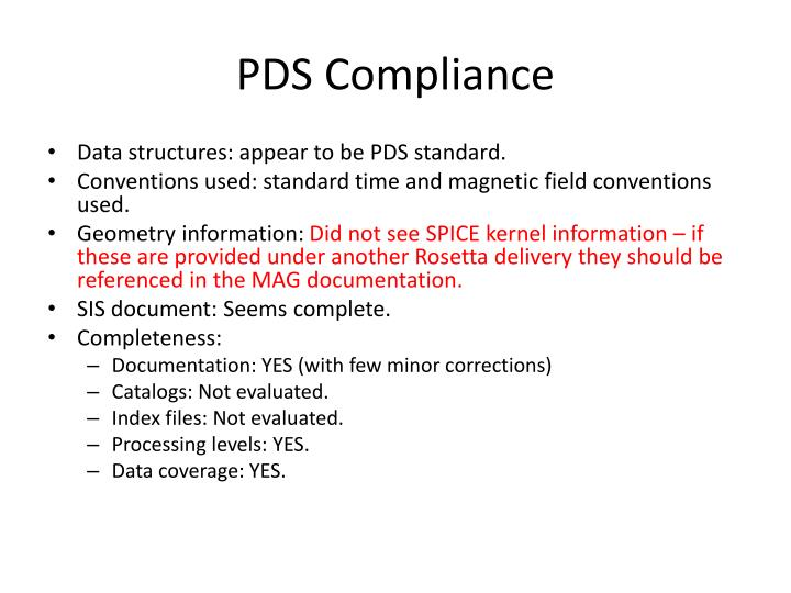 PDS Compliance