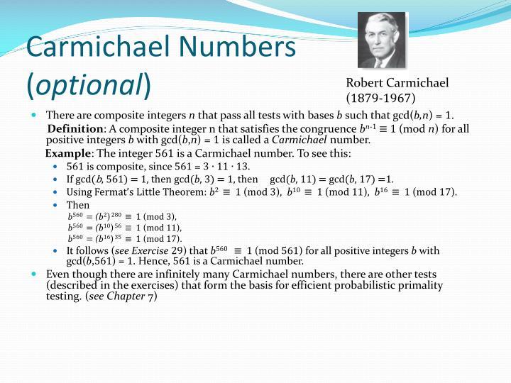 Carmichael Numbers
