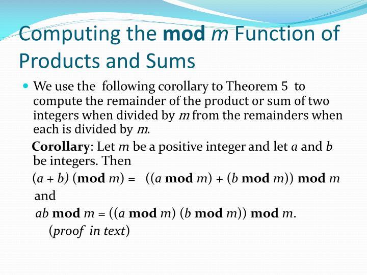Computing the