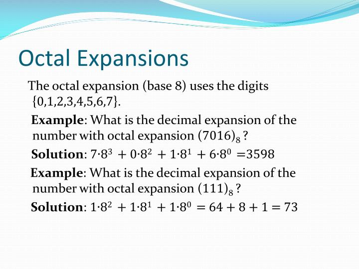 Octal Expansions