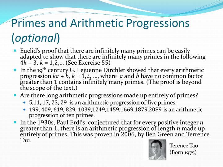 Primes and Arithmetic Progressions (
