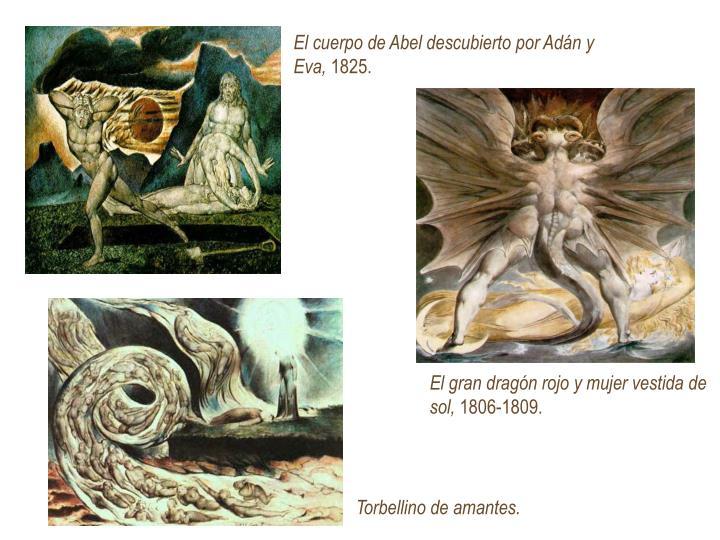 El cuerpo de Abel descubierto por Adán y Eva,