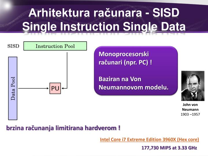 Arhitektura računara - SISD