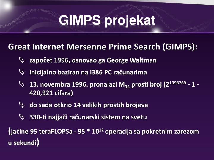 GIMPS projekat