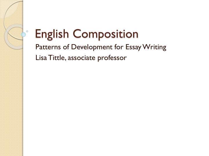 English Composition Essay Examples
