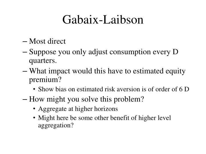 Gabaix-Laibson
