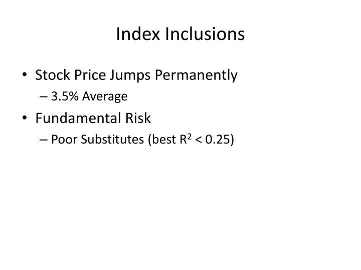 Index Inclusions