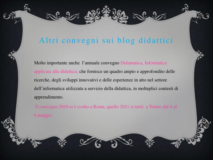 Altri convegni sui blog didattici
