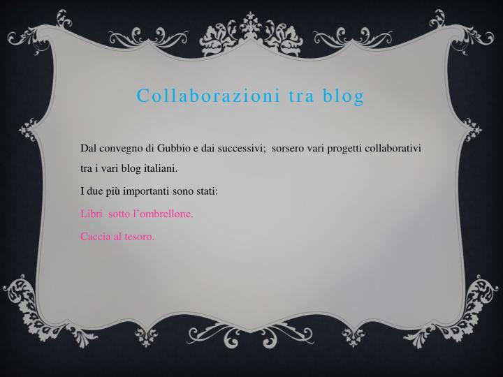 Collaborazioni tra blog
