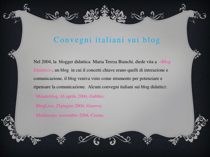 Convegni italiani sui blog
