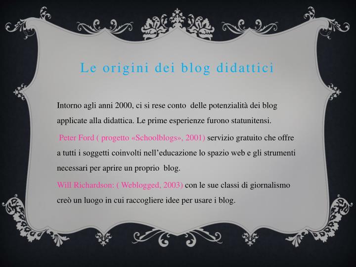 Le origini dei blog didattici