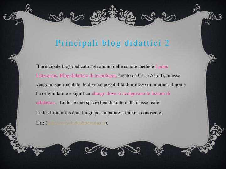 Principali blog didattici 2