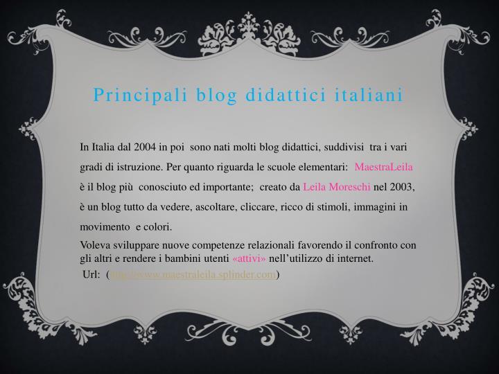 Principali blog didattici italiani