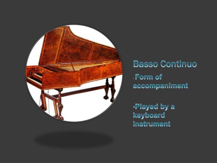 Basso Continuo