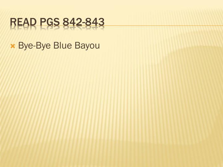 Bye-Bye Blue Bayou