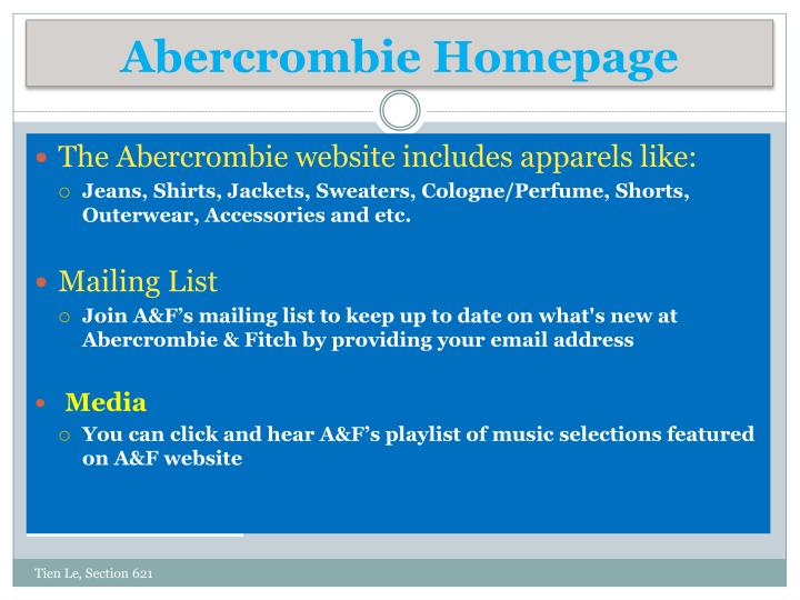 Abercrombie Homepage