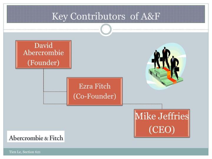 Key Contributors  of A&F