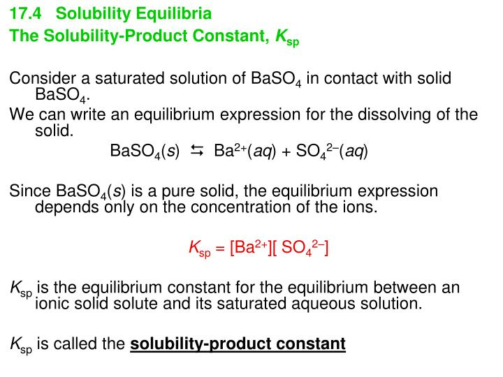 17.4   Solubility