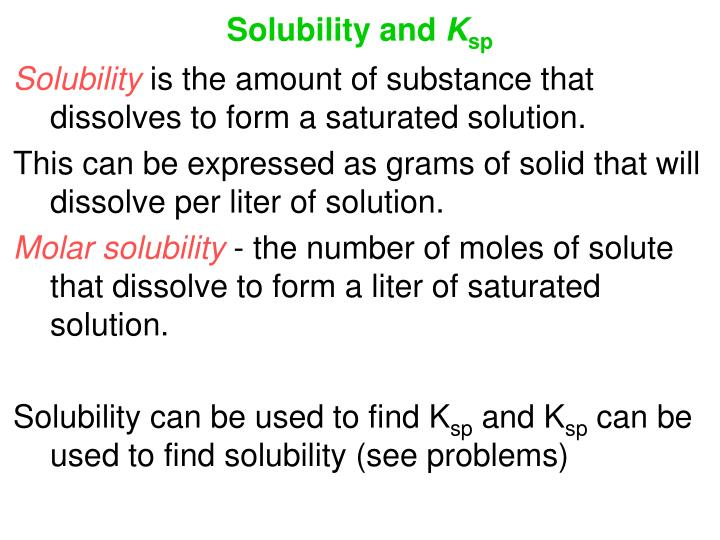 Solubility and