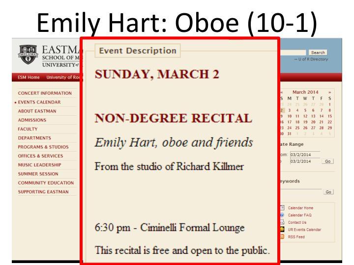 Emily Hart: Oboe (10-1)