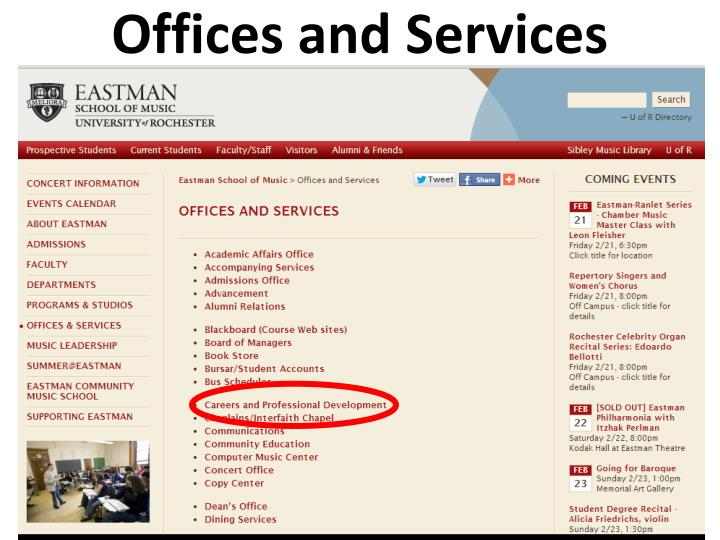 Offices and Services